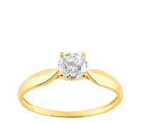 Bague Or 9 carats Solitaire Oxyde