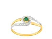 Bague Or 9 carats Solitaire Emeraude
