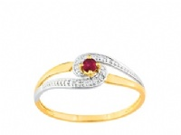 Bague Or 9 carats Solitaire Rubis