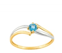 Bague Or 9 carats Topaze bleue