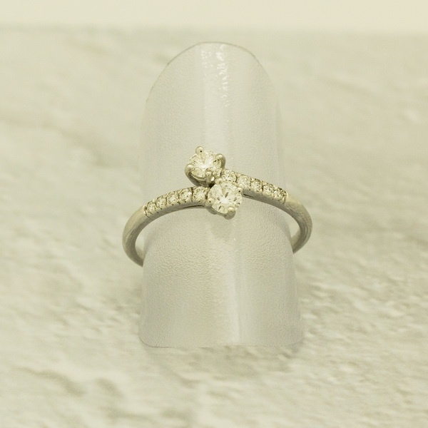 bague or blanc diamant toi et moi